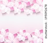trendy abstract floral pink...   Shutterstock . vector #195092678