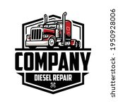 diesel truck repair logo...