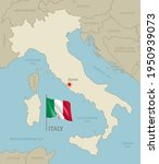 highly detailed map of italy... | Shutterstock .eps vector #1950939073