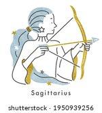 twelve constellations... | Shutterstock .eps vector #1950939256