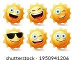sun characters vector set. sun...   Shutterstock .eps vector #1950941206