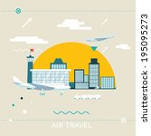 travel lifestyle concept of... | Shutterstock .eps vector #195095273
