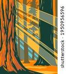 sunlight through the giant...   Shutterstock .eps vector #1950956596