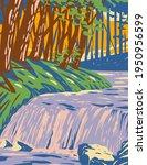 The Boykin Creek Waterfall In...