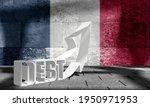national debt of france 3d...   Shutterstock . vector #1950971953