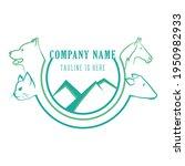 logo veterinary. vector... | Shutterstock .eps vector #1950982933