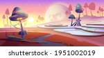 fantasy landscape with magic... | Shutterstock .eps vector #1951002019