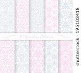 set of ten seamless modern... | Shutterstock .eps vector #195103418