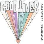 vintage good tibes slogan print ...   Shutterstock .eps vector #1951035499