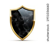 glass black marble shield with... | Shutterstock .eps vector #1951036660