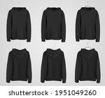 black hoodie mockup on plastic  ... | Shutterstock . vector #1951049260