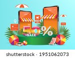 promotion template for 50  off... | Shutterstock .eps vector #1951062073
