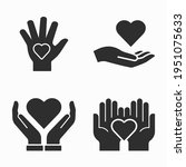 charity and volunteer icons set ... | Shutterstock .eps vector #1951075633