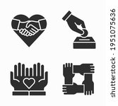 charity and volunteer icons set ... | Shutterstock .eps vector #1951075636