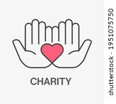 charity line icon. vector... | Shutterstock .eps vector #1951075750