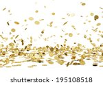 rain from golden coins. falling ... | Shutterstock . vector #195108518
