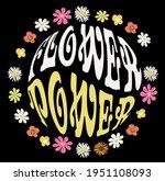 70s retro groovy hippie slogan... | Shutterstock .eps vector #1951108093