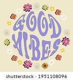 70s retro groovy hippie slogan...   Shutterstock .eps vector #1951108096