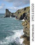 Cliffs At Tintagel Cornish Coast