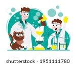 cartoon scientist and kid...   Shutterstock .eps vector #1951111780