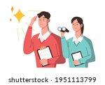 businessmen with telescopes are ...   Shutterstock .eps vector #1951113799