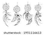 dreamcatcher hippie decoration...   Shutterstock .eps vector #1951116613