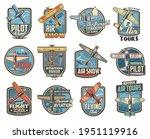 pilot school and aviation show... | Shutterstock .eps vector #1951119916