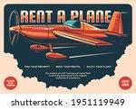 rent a plane retro vector...   Shutterstock .eps vector #1951119949