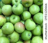 macro photo green apple. stock... | Shutterstock . vector #1951120666