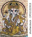 macro photo indian ganesha god. ... | Shutterstock . vector #1951122313
