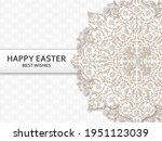happy easter background with... | Shutterstock .eps vector #1951123039