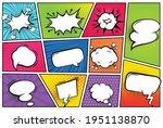 comic frames with speech...   Shutterstock .eps vector #1951138870