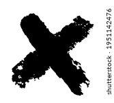 crossed paint strokes. black... | Shutterstock .eps vector #1951142476