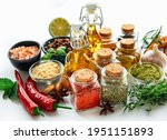 Various Spices Isolated On...