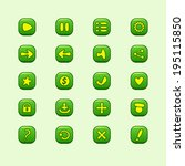 set of mobile green vector...
