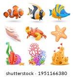 underwater world cartoon icon... | Shutterstock .eps vector #1951166380