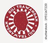 gili trawangan stamp. travel... | Shutterstock .eps vector #1951167220