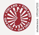 finland stamp. travel red... | Shutterstock .eps vector #1951167223