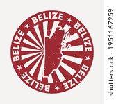 belize stamp. travel red rubber ... | Shutterstock .eps vector #1951167259