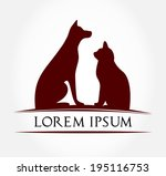 Stock vector cat and dog symbol vector illustration 195116753