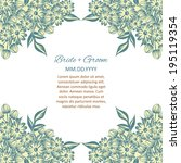 wedding invitation cards with... | Shutterstock . vector #195119354