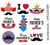 happy fathers day  vintage... | Shutterstock .eps vector #195120389