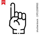 hand up icon vector design....