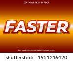 faster text effect template...   Shutterstock .eps vector #1951216420