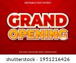 grand opening text effect...   Shutterstock .eps vector #1951216426