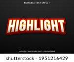highlight text effect template...   Shutterstock .eps vector #1951216429