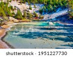 Colorful Spring at the Norris Geyser Basin in Yellowstone National Park. High quality photo