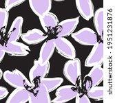 purple floral brush strokes... | Shutterstock .eps vector #1951231876