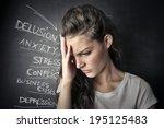 gloomy | Shutterstock . vector #195125483