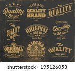 vintage label set | Shutterstock .eps vector #195126053